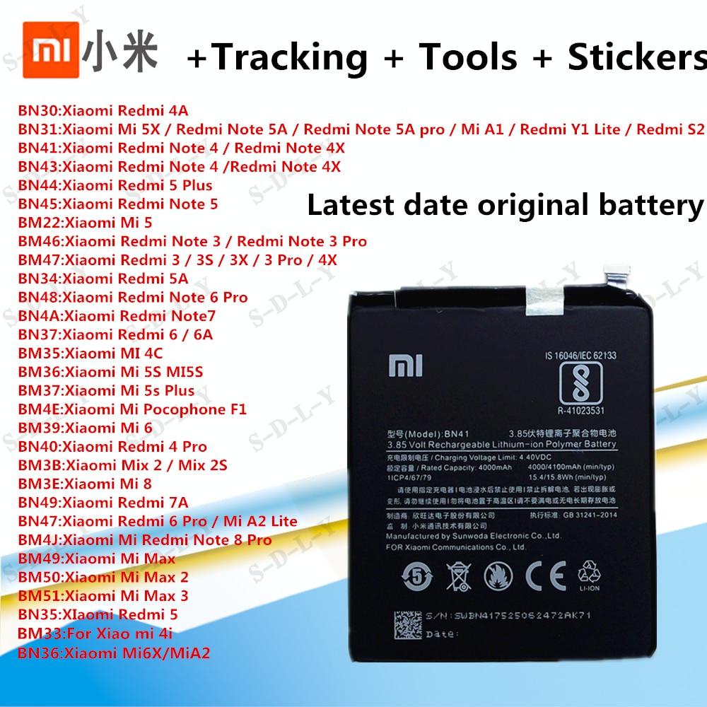 Оригинальный сменный аккумулятор XiaoMi для Xiaomi Mi Redmi Note Mix 2 3 3S 3X 4 4X 4A 4C 5 5A 5S 5X M5 6 6A 7 8 Pro Plus, батареи