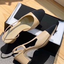 New Hot Women Pumps  High Heels Genuine Leather Women Dress Party Shoes Woman Nude Mixed Color Ladie