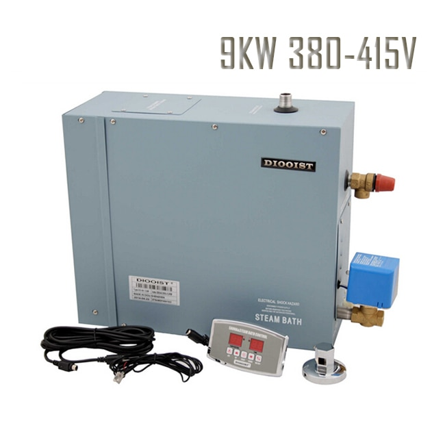 Envío Gratis 9KW generador de vapor hogar humeante sala de Sauna 380-415V 3 fase baño de vapor con la máquina de drenaje válvula