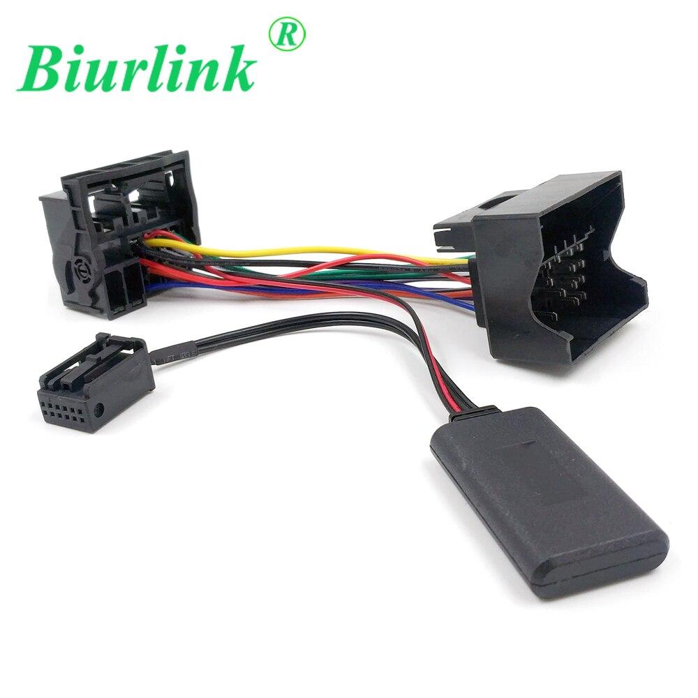 Biurlink para Ford 6000CD Bluetooth 5,0 Audio entrada AUX música Quadlock Cable de arnés para Ford fusión Fiesta