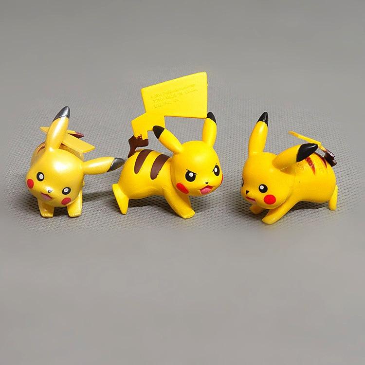 Figuras de acción de Pokemon Pikachu de 3,5 cm, Mini muñeca de juguete, Pikachu, elfo amarillo, modelo de Anime, juguete, regalo de cumpleaños para niños, regalo de cumpleaños, decoración