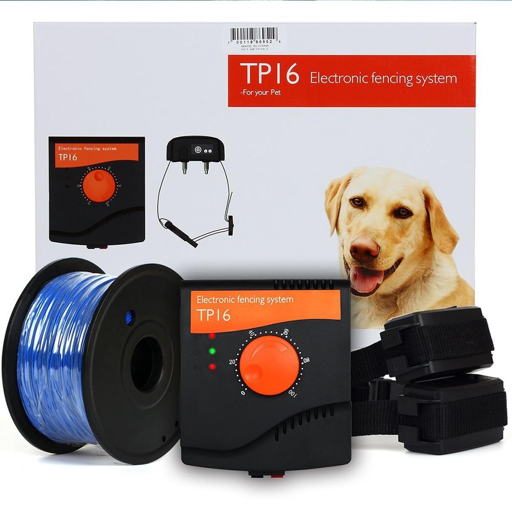 TP16 كلب كهربائي نظام وضع الأسوار السلكية قابلة للشحن مقاوم للماء قابل للتعديل الكلب طوق تدريب المبارزة الإلكترونية الكلب الملحقات