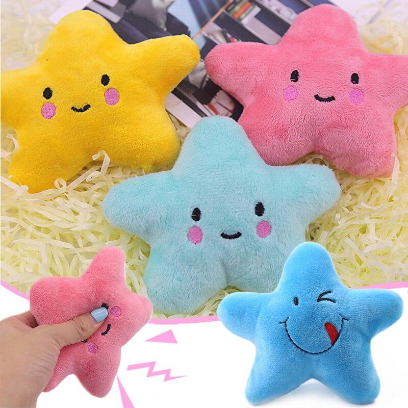 Jouets vocaux en peluche dessin animé étoile à cinq branches jouet jouets en peluche doux pour chien jouets à mâcher fournitures pour animaux de compagnie yu-home
