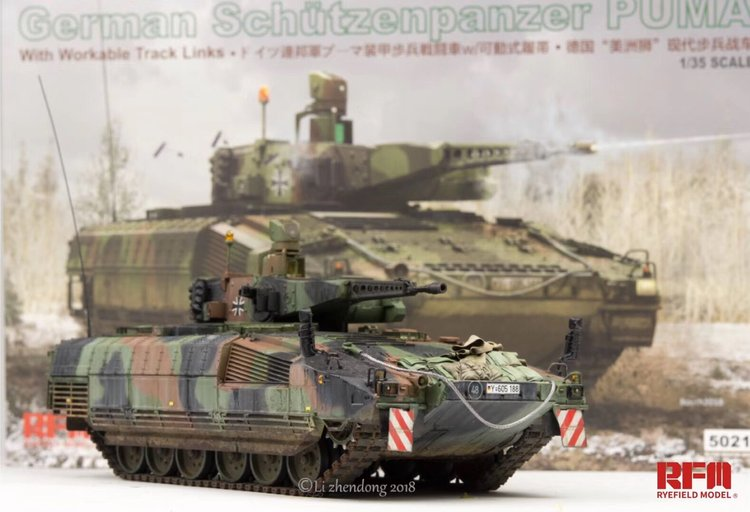 Rye Field 5021 1/35 German Schutzenpanzer Puma w/Workable Track Links Infantry Fighting Vehicle IFV Plastic Assembly Model Kit