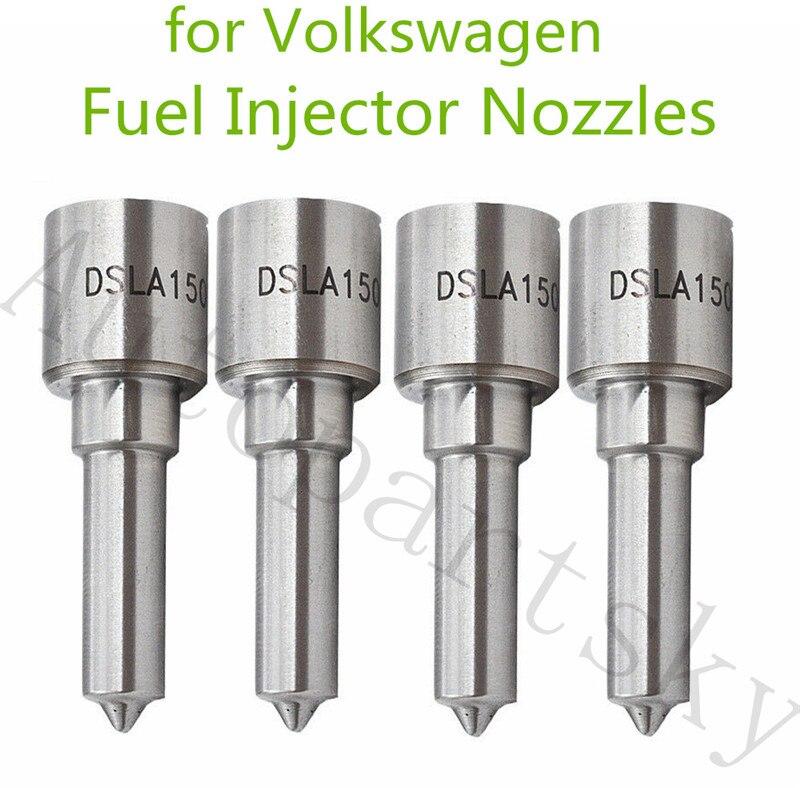 Bico injetor de combustível para volkswagen, 4 unidades, jetta tdi mk3 mk4 alh golf beetle passat dsla150p502 0433175093 dsla 150 p502