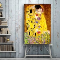 gustav klimt kiss reproductions figure oil painting on canvas art scandinavian posters and prints wall picture for living room