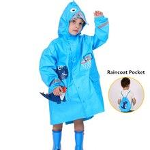 Children Thicken Waterproof Rainwear Kids 3D Solid Printing Rain Coat Lion,Dinosaur Raincoat For Girls Boys With Pocket