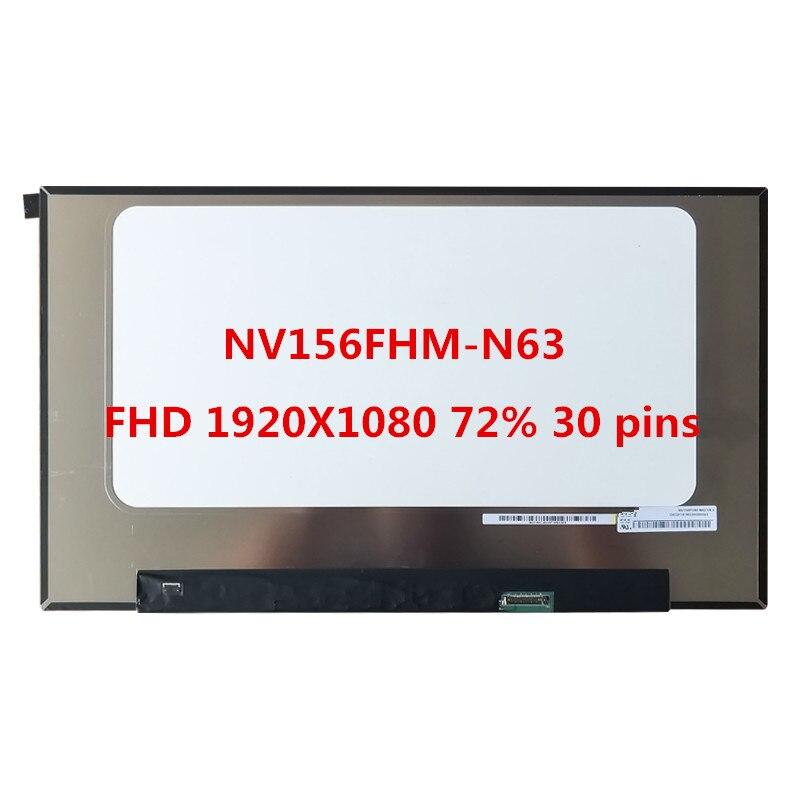 "NV156FHM-N63 V8.0 para pantalla BOE NV156FHM N63 IPS matriz LCD para ordenador portátil 15,6 ""FHD 1920X1080 72% NTSC pantalla LED"