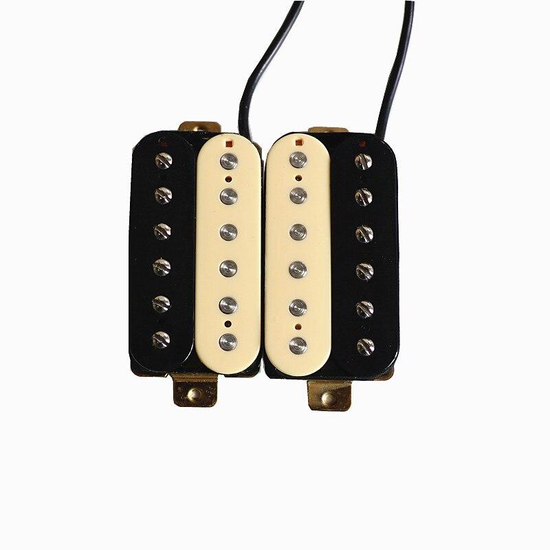 Donlis, Envío Gratis, mástil y puente Alnico, 2 pastillas de guitarra, humbucker, cebra, color marfil, pastillas de guitarra eléctrica, guitarra, gráfica, uñas