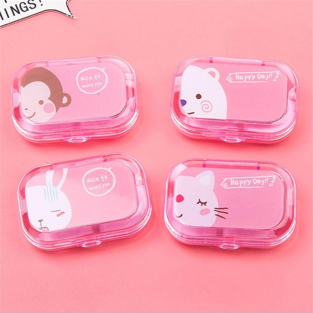 Портативные пластиковые ящики для хранения контактных линз конфетных цветов, чехол для контактных линз для путешествий, мини-очки для неви...