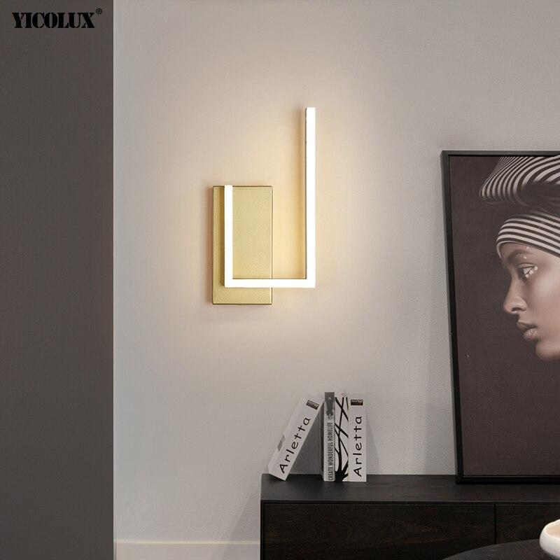 مصباح جداري LED بتصميم عصري دائم ، إضاءة زخرفية داخلية ، مثالي لغرفة المعيشة أو غرفة النوم.