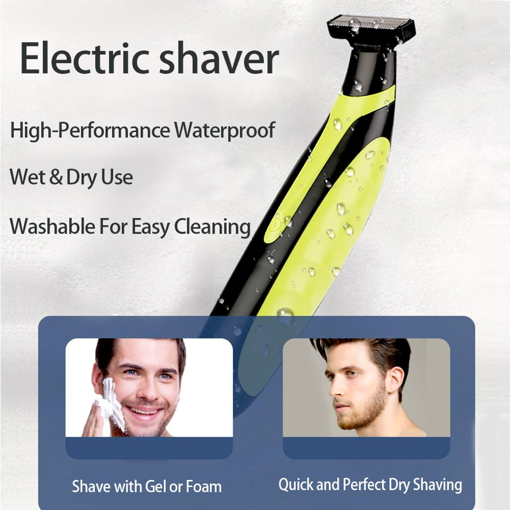 Electric shaver USB rechargeable shaver beard trimmer for men Rechargeable shaver can clean the whole body with a separate refle enlarge