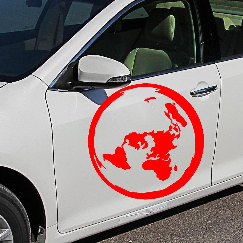 Красивая карта, автомобильная наклейка, модная мультяшная Автомобильная наклейка, украшение окна, индивидуальные виниловые наклейки
