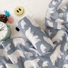 Stroller cover Play Mat Baby Swaddles Soft Muslin 100% Cotton Cute Newborn Blankets Bath Gauze Infant Wrap sleepsack