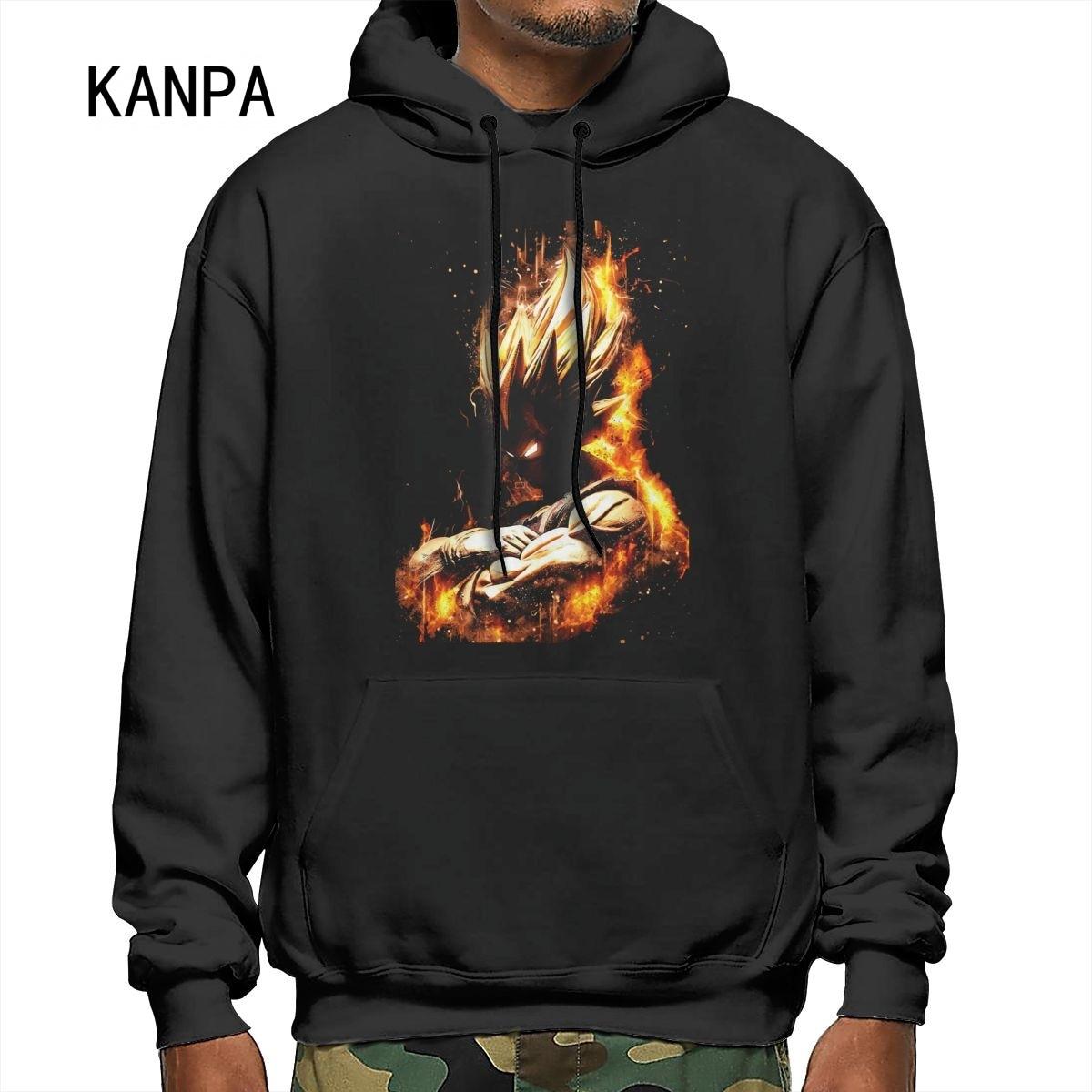 KANPA 2021 New Fashion Brand Men's Hoodies Anime clothes Personality Pattern Print Anime Hoody Men W