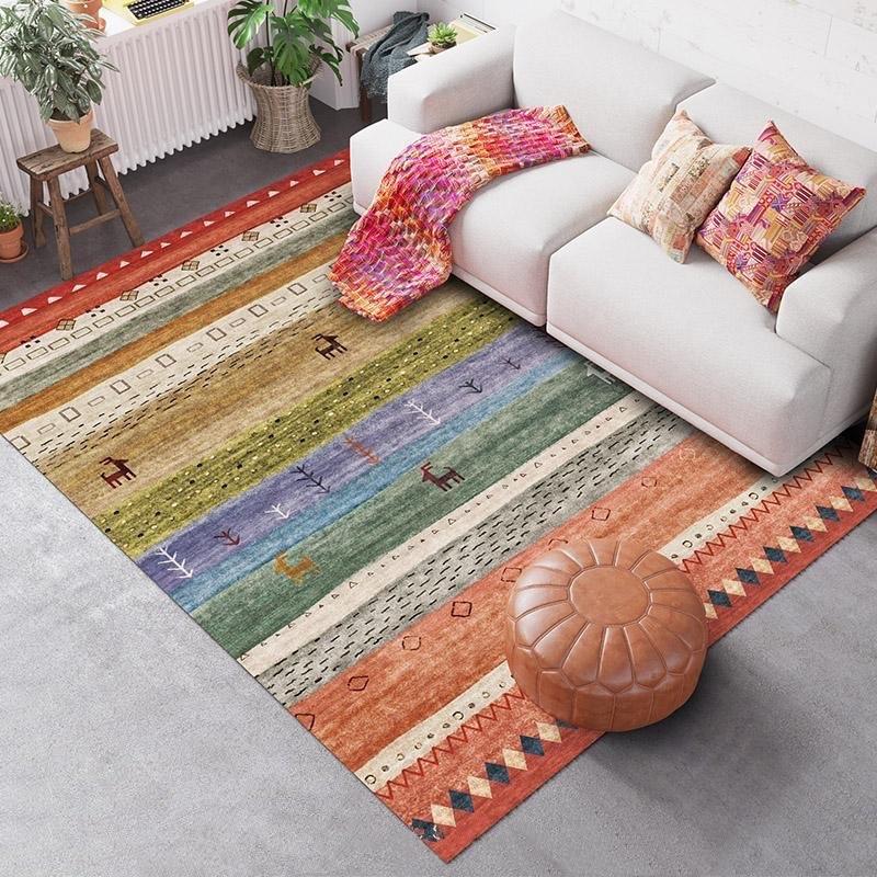 Alfombra سجادة صغيرة الشمال الرياح الوطنية المغربي نمط بسيط نوم غرفة المعيشة السرير البساط متعددة الأغراض نظيفة جيدا