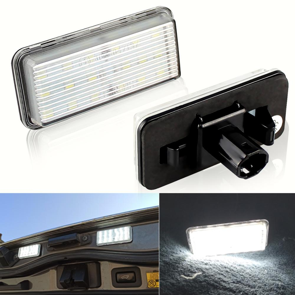 2Pcs No Error Canbus Car LED Number License Plate Light for Toyota Land Cruiser 100 200 Prado 120 Re