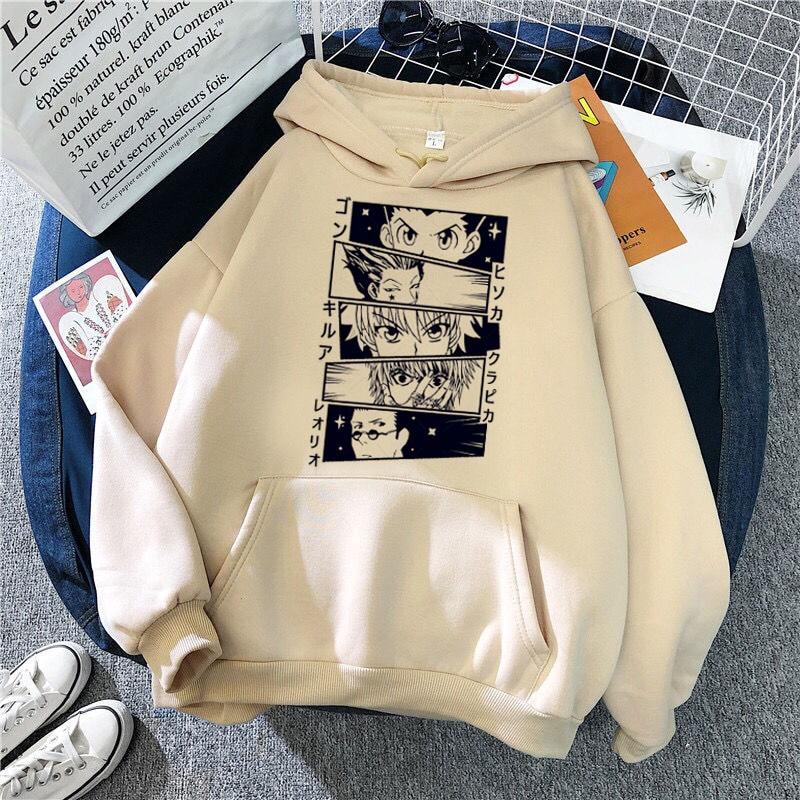 Лидер продаж, толстовки с японским Аниме Манга Kawaii Hunter X Hunter, мужские/женские толстовки с коротким рукавом Killua Zoldyck Hoddie для одежды