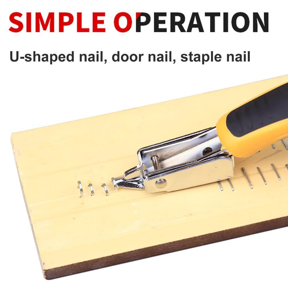 2020 pistola de grapas de uñas multiherramienta, grapadora de muebles para tapicería de puerta de madera, Kit de pistola de remache, herramienta de extracción de clavos