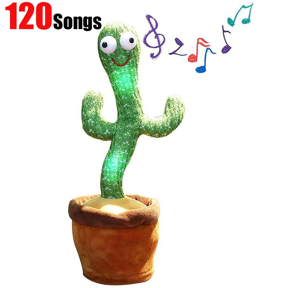AliExpress - Dancing cactus talking cactus Stuffed Plush Toy Electronic toy with song plush cactus potted toy Early Education Toy For kids