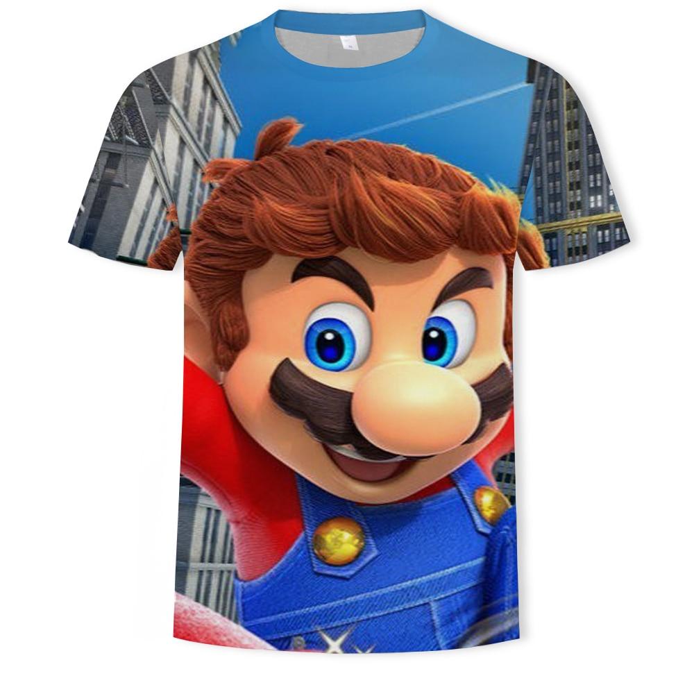 [Free shipping] New funny cartoon 3D printing T-shirt men's short-sleeved fashion casual T-shirt O neck  children's clothing