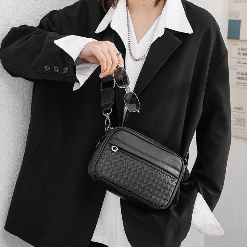 Tidog-حقيبة كتف مجمعة للشباب ، حقيبة كتف عصرية كورية للرجال