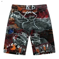 summer style 2021 men shorts beach short breathable quick dry loose casual hawaii printing shorts man plus size 6xl