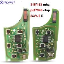 jingyuqin 315/434Mhz 10p Car Alarm Remote Key Circuit Board Electronic for Chevrolet Malibu Cruze Aveo Spark Sail 2/3/4/5 Button