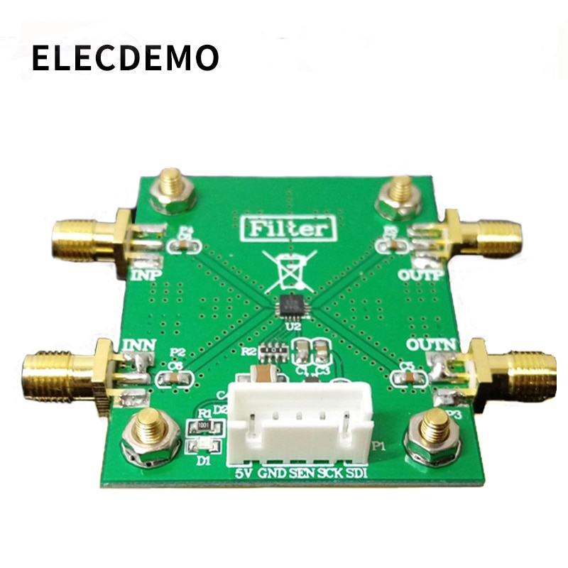 HMC1044LP3E Programmable Harmonic Low Pass Filter Module 1~3GHz RF Filter Harmonic Filter free shipping flp11p 1000 1000mhz high order low pass filter rf coaxial lc lpf sma sensor