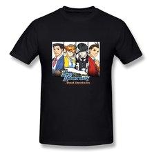 Ziyuan masculino ace attorney dupla destinies t-camisa t camisa estilo de verão moda masculina t camisa superior