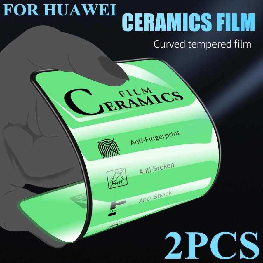 2PCS Ceramics Soft Screen Protector for Huawei P30 P40 P20 Pro Lite Mate 30 20 X 10 Nova 3 3i 3E 5i 7i P Smart Z Tempered Glass