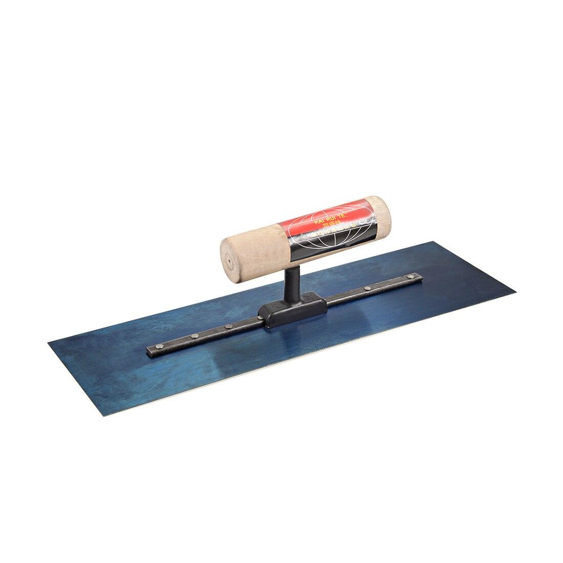 Uxcell 1 pièces maçonnerie main truelle cloison sèche béton finition outil de construction en acier au manganèse manche en bois pour les projets de bricolage couteau