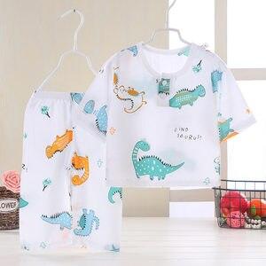 Children Pajamas Summer Baby Pajamas Clothing Set Kids Cartoon Sleepwear  Cotton Nightwear Boys Girls Pyjamas Set 2021 New
