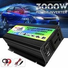 Convertisseur de puissance 3000W   Onduleur de voiture, tension bateau 220V cc 12V à AC, convertisseur de puissance, chargeur USB avec 2 USB