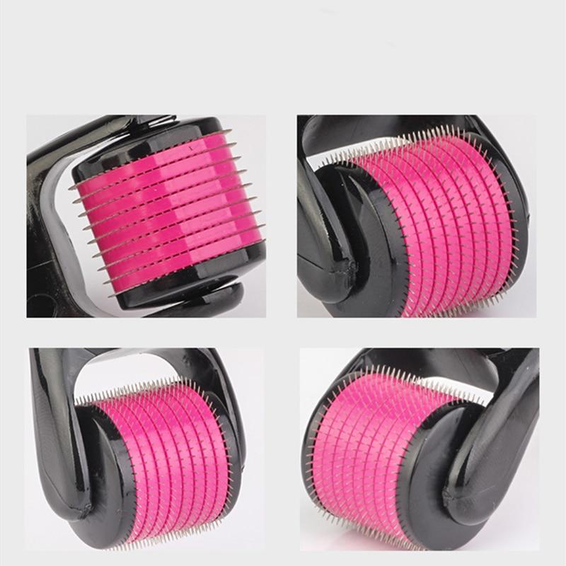 Micro Needle Roller Derma Roller Dermaroller Titanium Hair Regrowth Beard Growth Anti Hair Loss Treatment Thinning Hair Receding