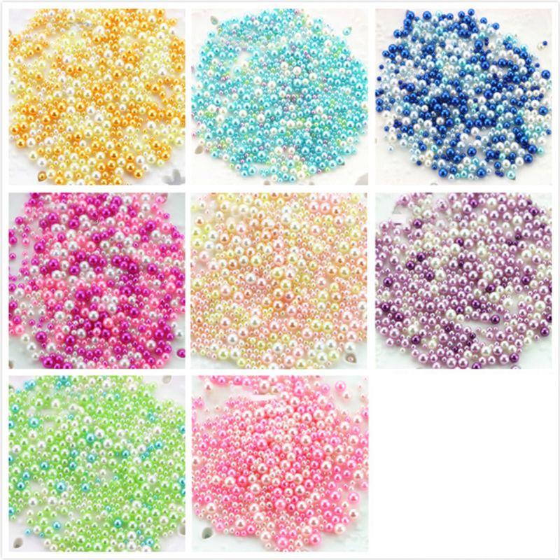 Alrededor de 500 Uds 8 Color cristal epoxi perla relleno para collar pulsera joyería Makeing accesorios de artesanía