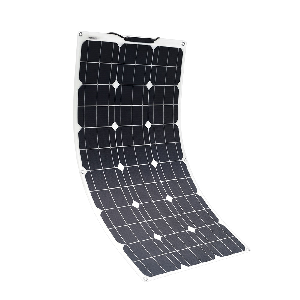 Solarparts 18 فولت 75 واط مرنة لوحة طاقة شمسية عالية الكفاءة خلايا أحادية الكتلة للالبحرية RV قارب قافلة