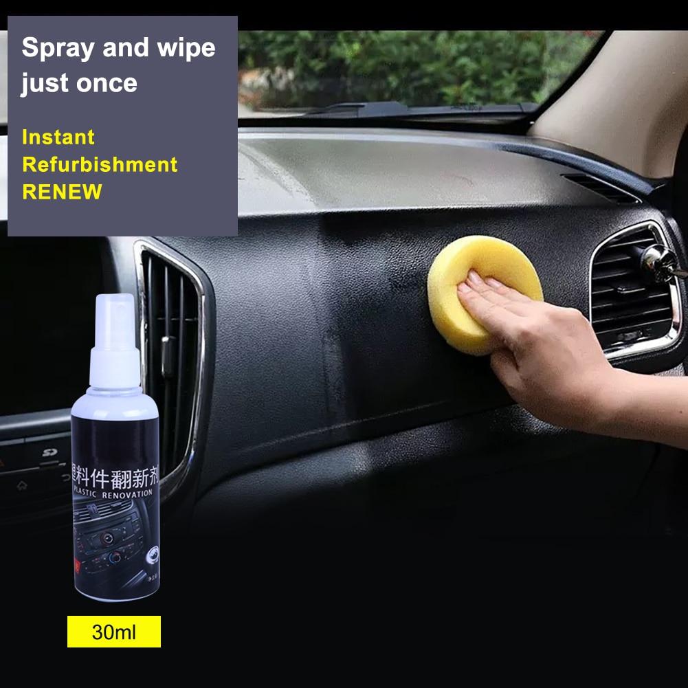 Car Interior Instrument Panel Plastic Parts Wax Retreading Renewed Automotive Restore Cleaning Essential tools cars 30ml