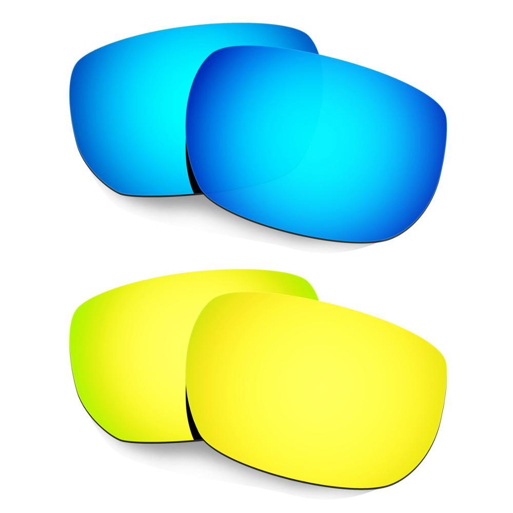 HKUCO لأسلوب التبديل النظارات الشمسية المستقطبة استبدال العدسات 2 أزواج الأزرق و الذهب