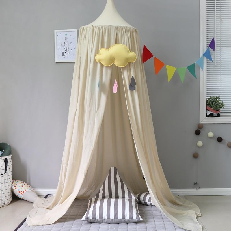 Kids Room Cotton Canopy Nursery Decor Cotton Canopy Crib Decor Mosquito Baby Boy Girl Kids Children Room Crib Cotton Canopies