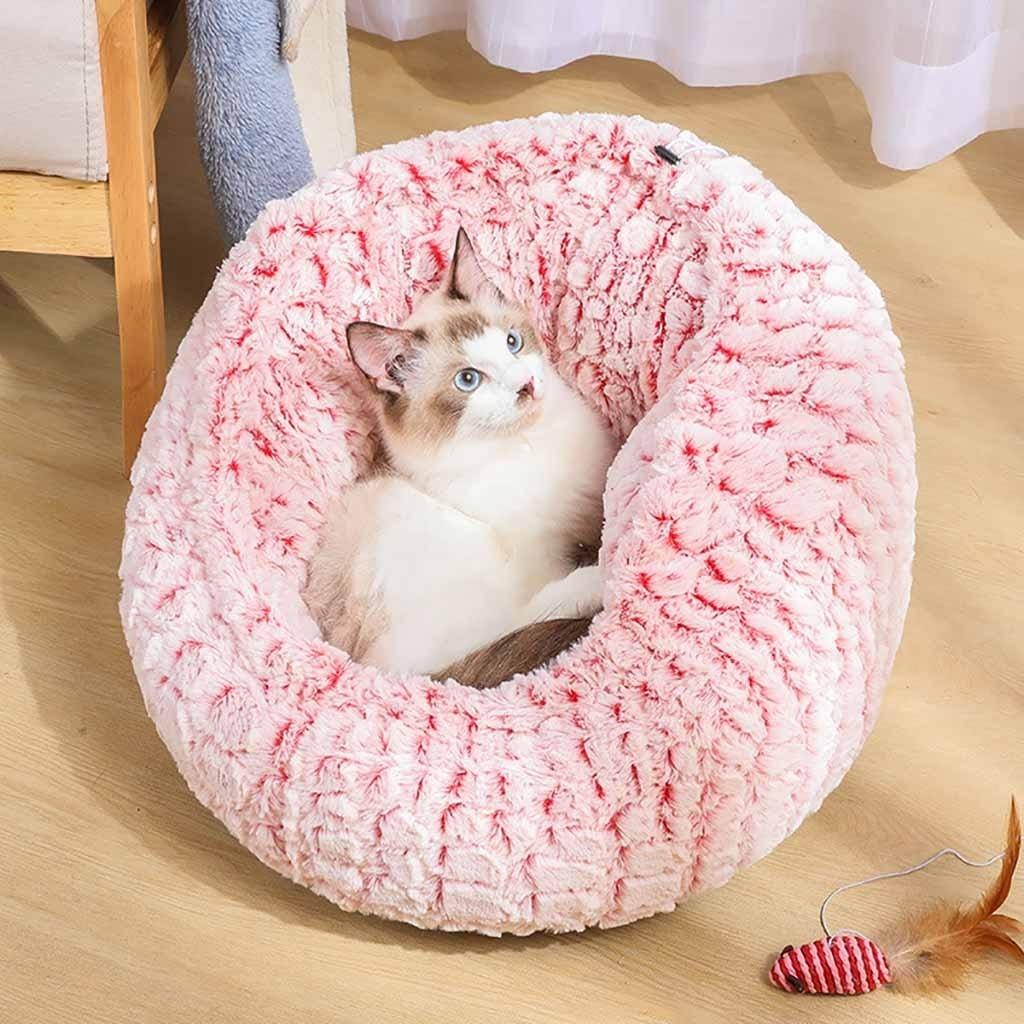 Saco de dormir cálido para gatos, cama larga de felpa suave, productos...
