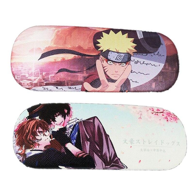 ¡Anime espada arte Online el destino a Lovelive! Funda de gafas de moda colorida de tirador de roca negra para Cosplay de Naruto