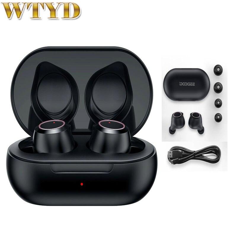 Nuevo DOOGEE Dopods auriculares inalámbricos de alta fidelidad sonido CVC 8,0 Control táctil responder llamadas Bluetooth 5,0 auriculares Bluetooth inteligentes