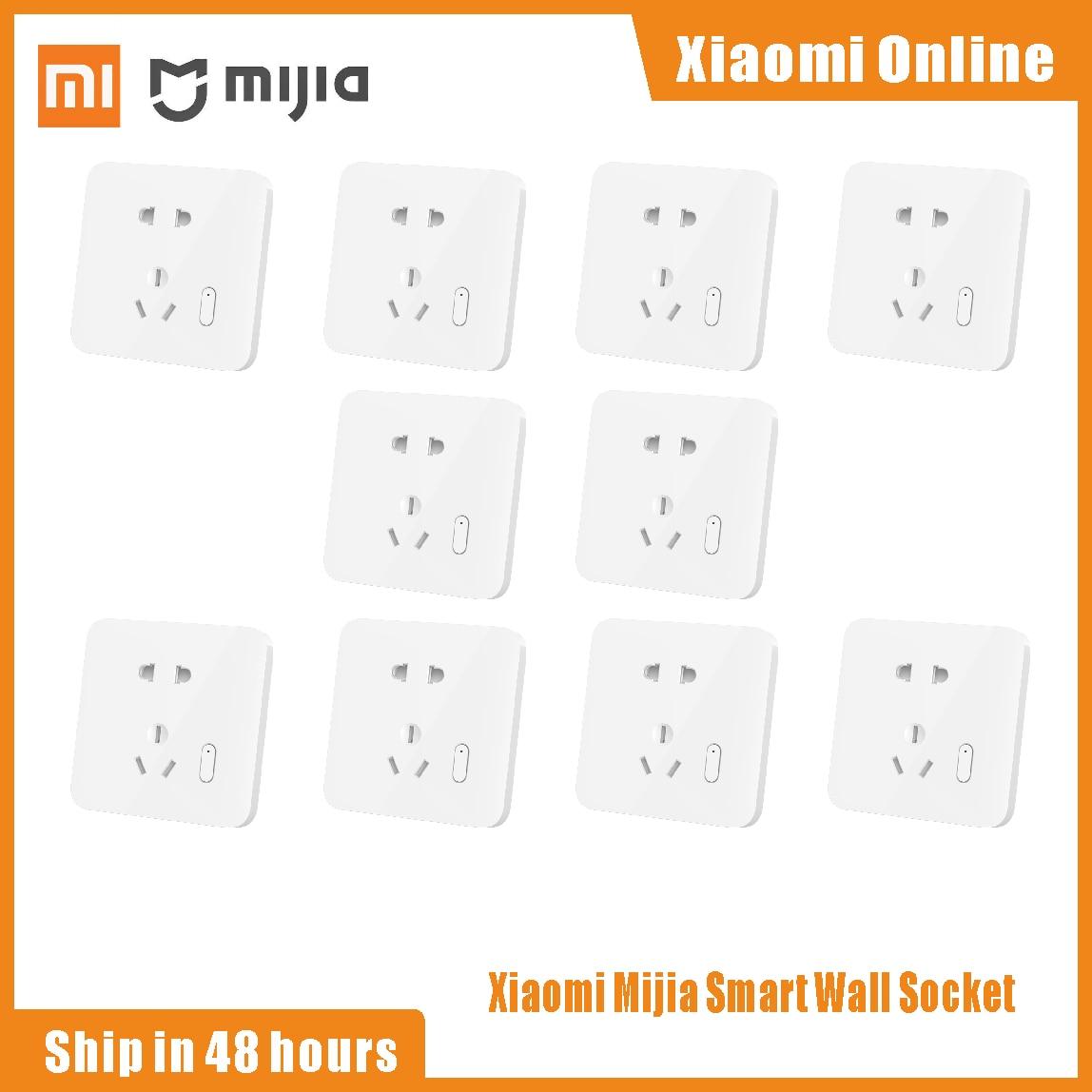 Xiaomi Mijia-مقبس حائط ذكي ، مقبس حائط 250 فولت ، تحكم صوتي ، ترقية OTA ، MijiaAPP