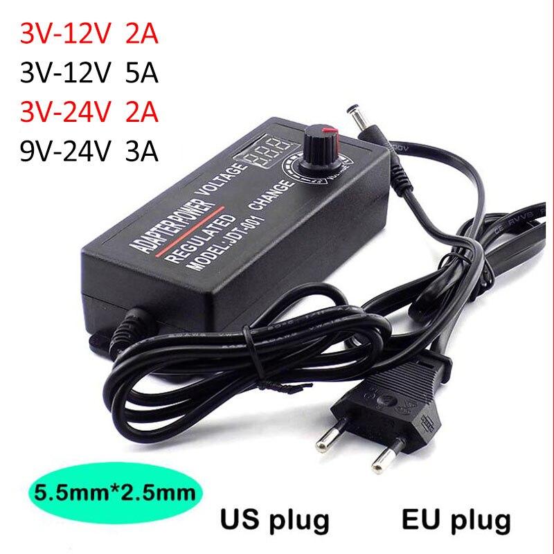 Adaptador de corriente AC 100-220V a CC 3 V-12 V 3 V-24 V 9 V-24 V 2A 3A 5A adaptador de corriente ajustable
