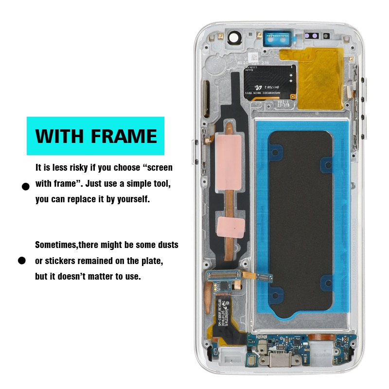 High Quality 5.1'' Original LCD For SAMSUNG Galaxy S7 Display G930 G930F LCD With Touch Screen Digitizer Replacement Assembly enlarge