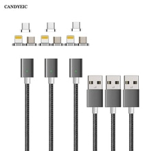 CANDYEIC Micro USB Magnetic Ladegerät Für iPhone Samsung Huawei Honor LG MOTO Xiaomi Redmi OPPO VIVO Realme USB C Magnetische kabel