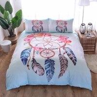 color dream catcher feather pattern 23 piece bedding set 3d digital print down quilt cover pillowcase useu au size