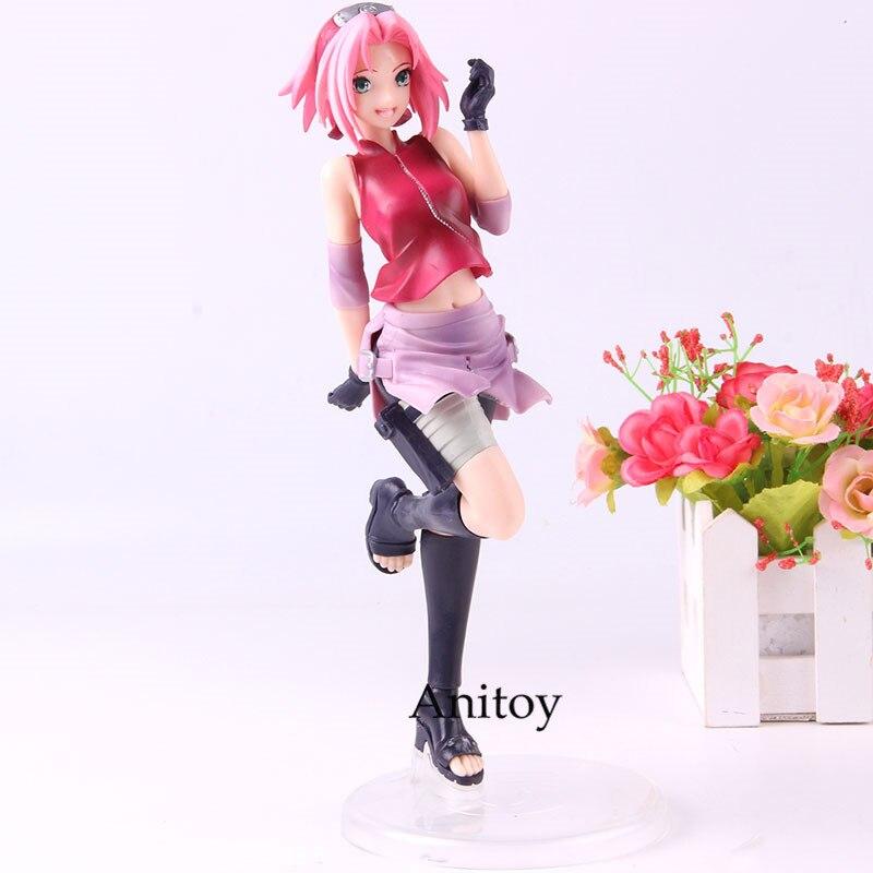 Anime Naruto Shippuden Anime estatuilla Sakura Haruno figura Naruto Shippuden figura de acción de PVC domesticos modelo de juguete