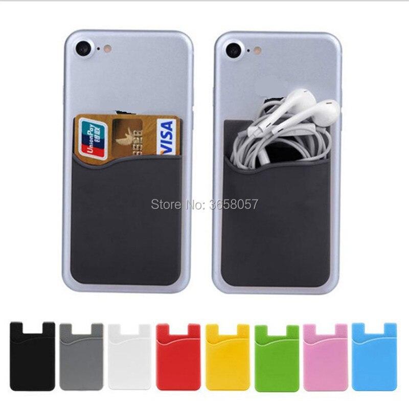 محفظة سيليكون ذاتية اللصق للايفون ، 100 قطعة ، محفظة ، بطاقة ائتمان ، نقود ، جيب ، 3 متر